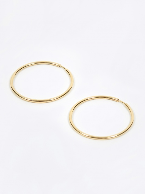 Senorita 35 Hoop Earring Pair - High Polished Gold