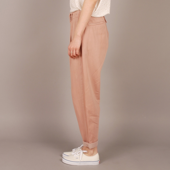 Levi's Vintage Clothing Levi's Vintage 1920's Pleat Front Chino - Pink (Image 1)