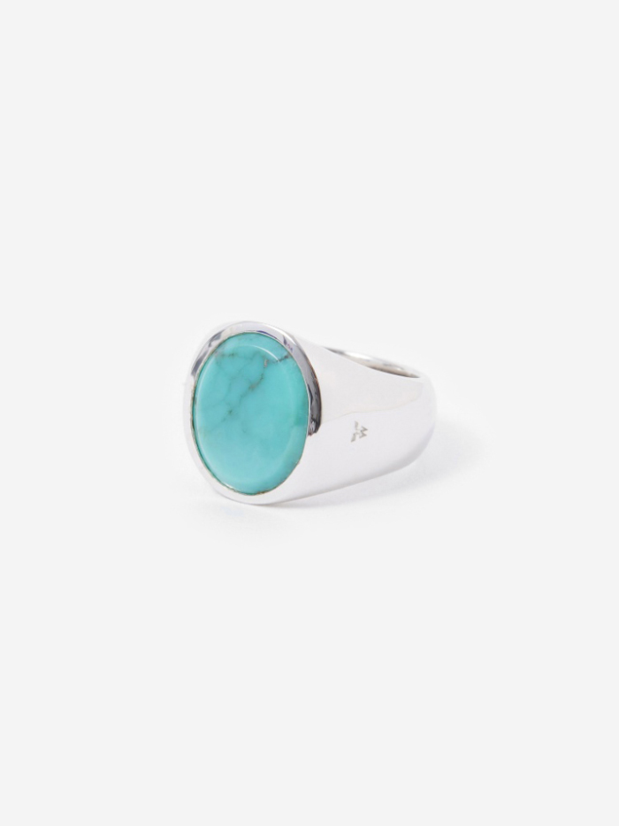 Tom Wood Oval Ring - Turquoise (Image 1)