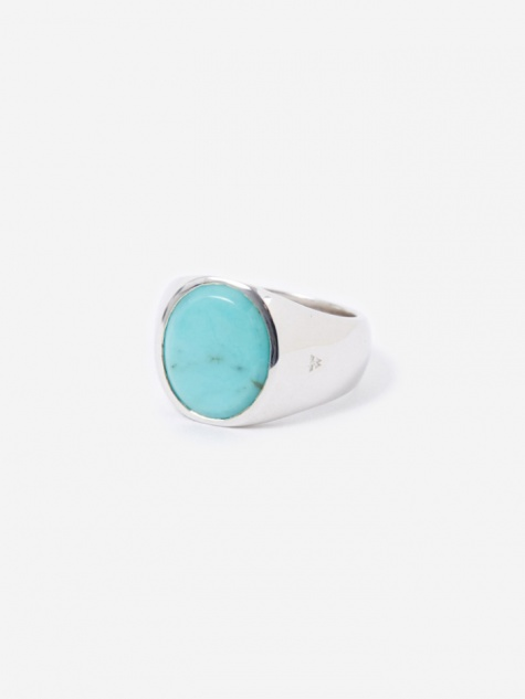 Tom Wood Oval Ring - Turquoise