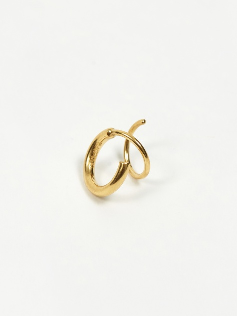 Dogma Twirl Right Earring - 18k Gold Plated