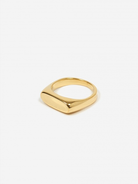 Papaya Ring - High Polished Gold