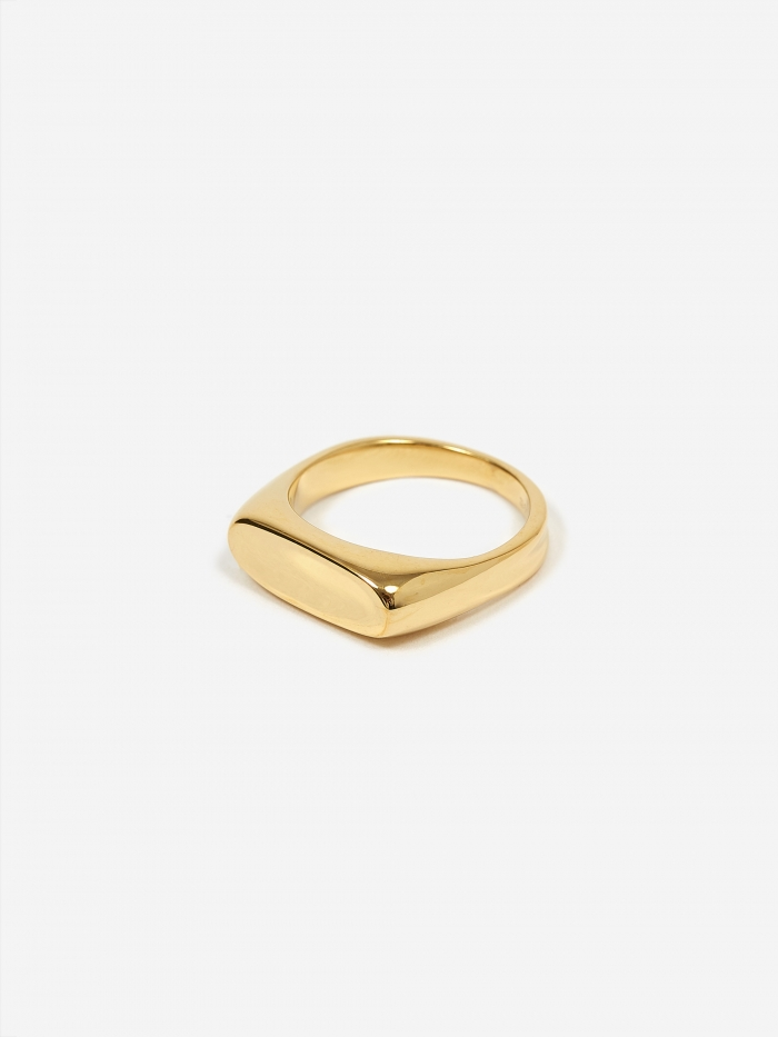 Maria Black Papaya Ring - High Polished Gold (Image 1)
