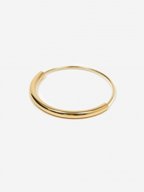 Serendipity Hoop Earring Medium - High Polished Gold