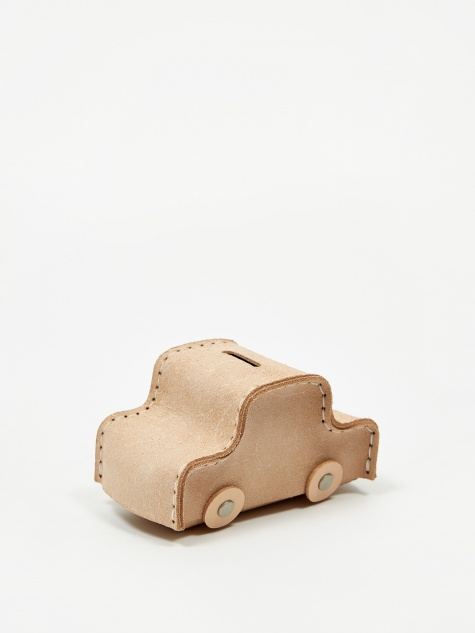 Car Coin Bank - Natural