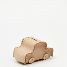Hender Scheme Car Coin Bank - Natural