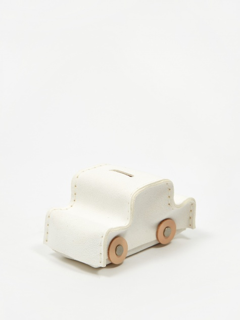 Car Coin Bank - White
