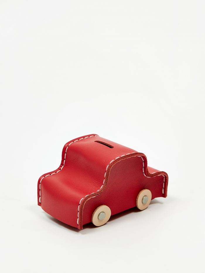 Hender Scheme Car Coin Bank - Red (Image 1)