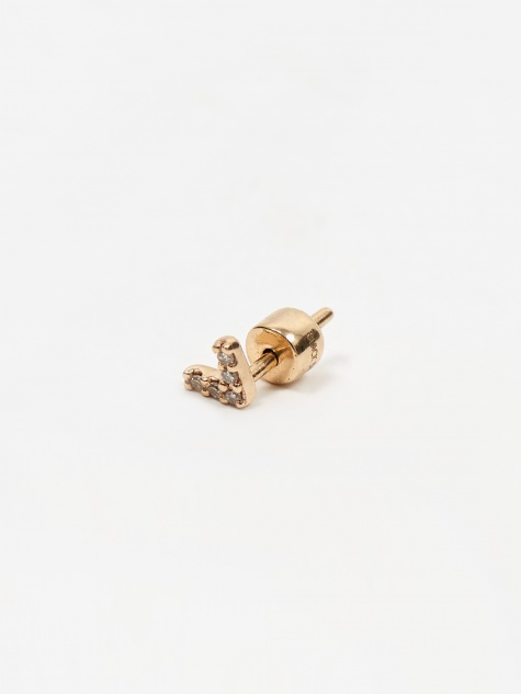 Diamond Velvet Stud - 14kt Yellow Gold