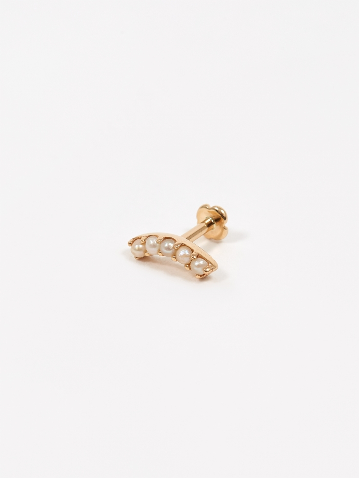 Maria Black Courbe Labret - 14kt Yellow Gold (Image 1)