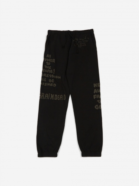 Tonal Type Print Sweatpant - Black