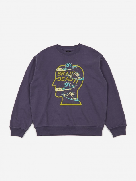 Snail Trail Crewneck Sweatshirt - Washed Navy