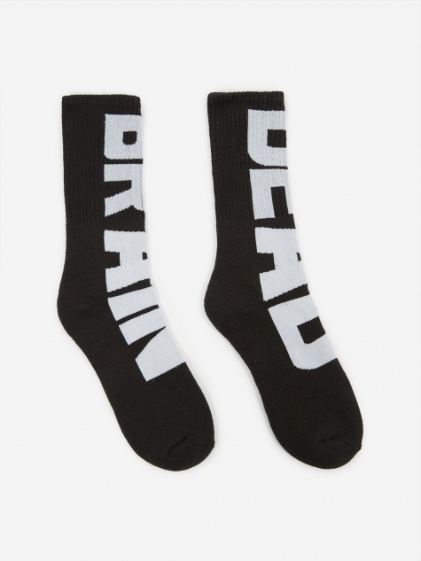 Vertical Type Sock - Black/White