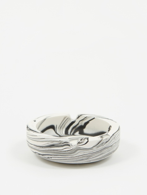 Jesmonite White Marble Ashtray