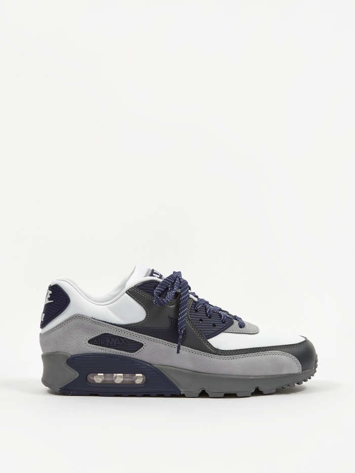 Nike Air Max 90 - White/Neutral/Indigo/Smoke Grey (Image 1)