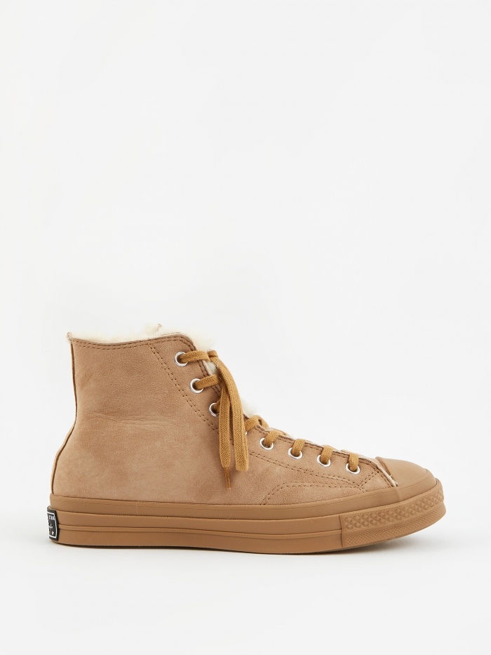 Converse Shearling Chuck Taylor 70 Hi - Iced Coffee (Image 1)