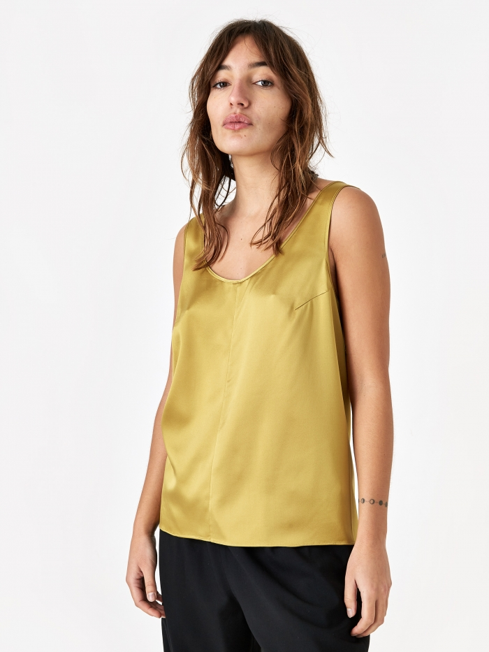 6397 Silk Tank Top - Gold (Image 1)