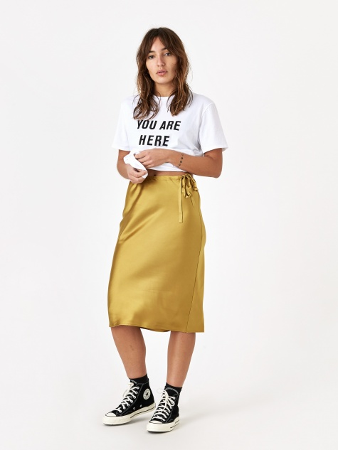 Drawstring Skirt - Gold