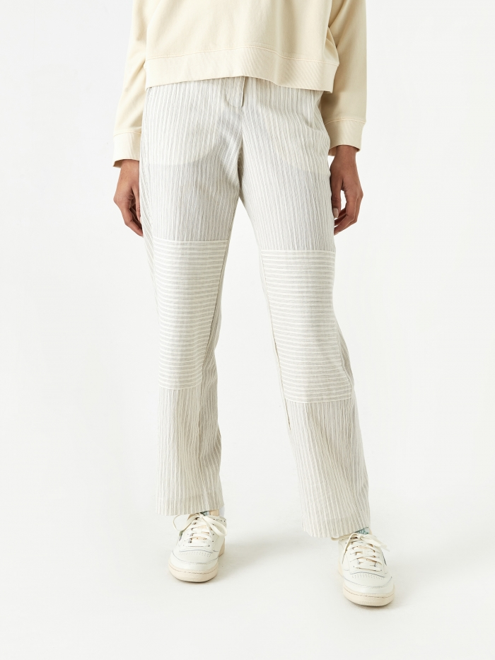 Wood Wood Tilly Trouser - Off White Stripes (Image 1)