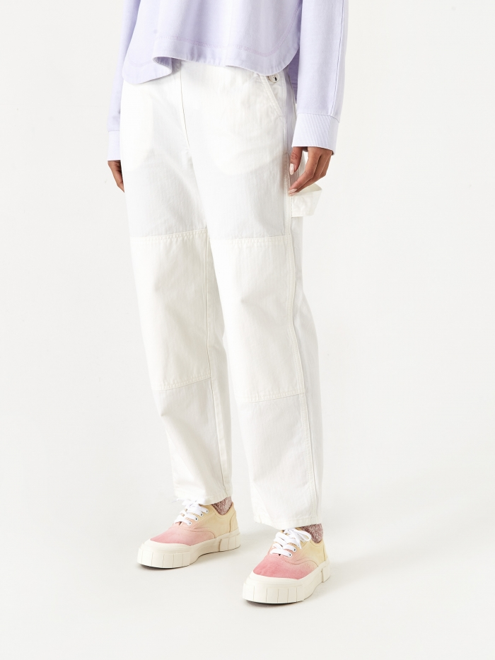 Wood Wood Esther Trouser - Off White (Image 1)