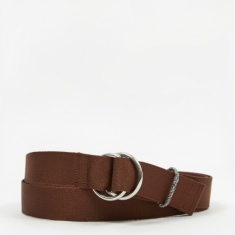 Ganni Webbing Belt - Chicory Coffee