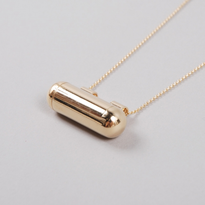Sabrina Dehoff Mini Memory Capsule Necklace - Gold (Image 1)