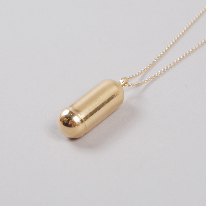 Sabrina Dehoff Long Mini Memory Capsule Necklace - Gold (Image 1)