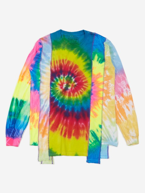 Rebuild 5 Cuts Longsleeve Tie-Dye T-Shirt - Assorted