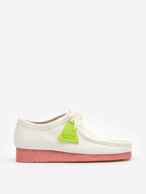 Clarks Wallabee - Bright White
