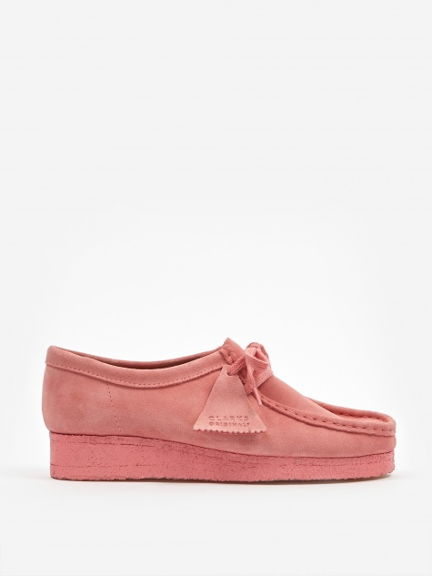Clarks Wallabee - Bright Pink Suede