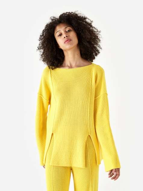 Ware Pullover Pearl Knit Jumper - Yellow
