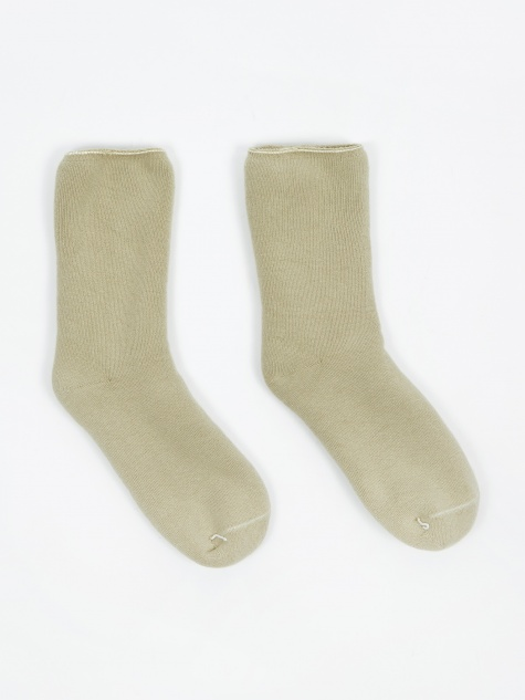Buckle Over Ankle Sock - Tao Green