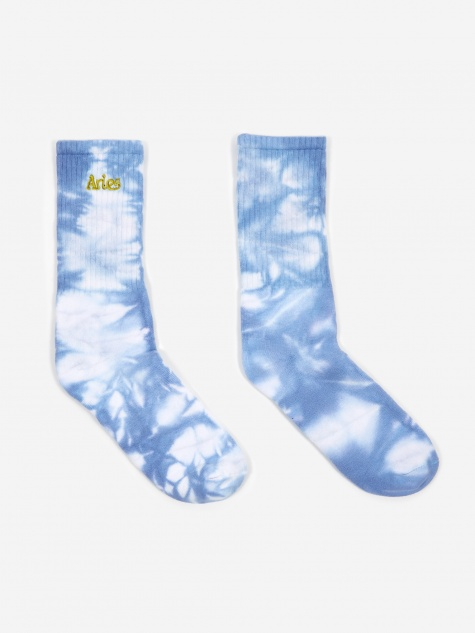 Tie Dyed Jacquard Sports Sock - Lilac