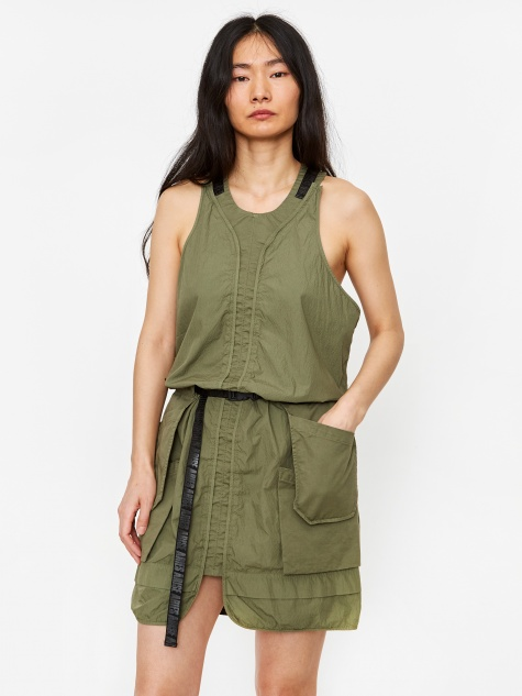 Cargo Dress - Loden Green