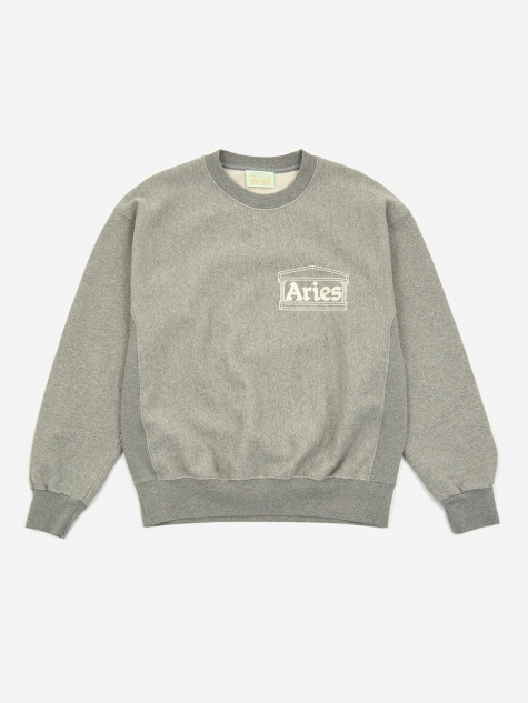 Premium Temple Sweatshirt - Grey Marl