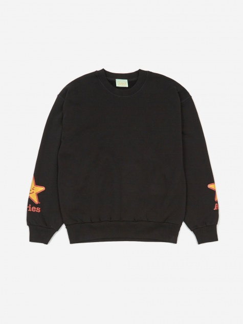 Aries Fast Food Sweatshirt - Black