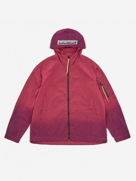 Ombre Dyed Tech Jacket - Fuchsia