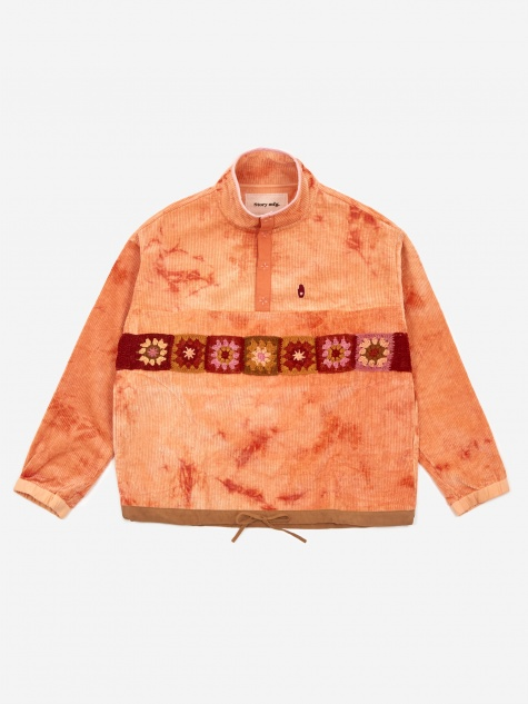 Polite Pullover Jacket - Peach Ripple