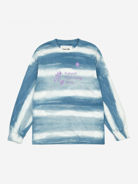 Grateful Longsleeve T-Shirt - Indigo Stripe