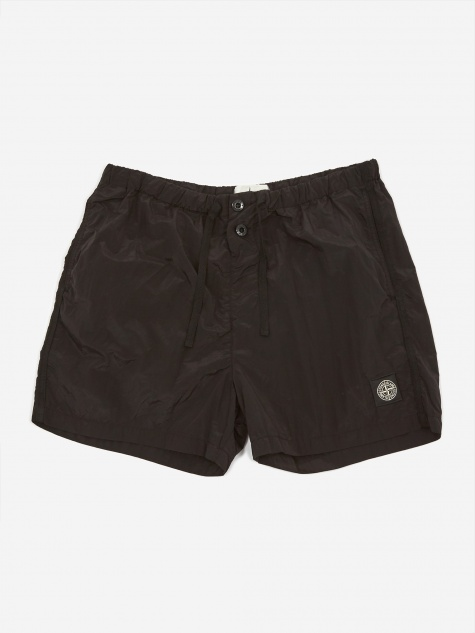 Nylon Metal Garment Dyed Short - Black