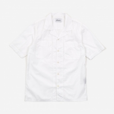 Albam Revere Collar Shortsleeve Shirt - White