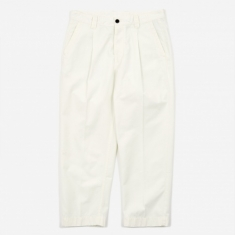 Albam GD Ripstop Pleated Trouser - Ecru