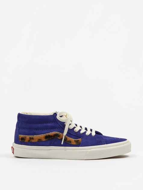 Sk8-Mid - Royal Blue/Calf Hair