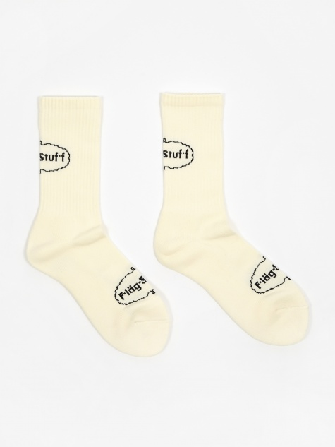 Ice Logo Sock - Ivory