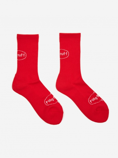 Ice Logo Sock - Red