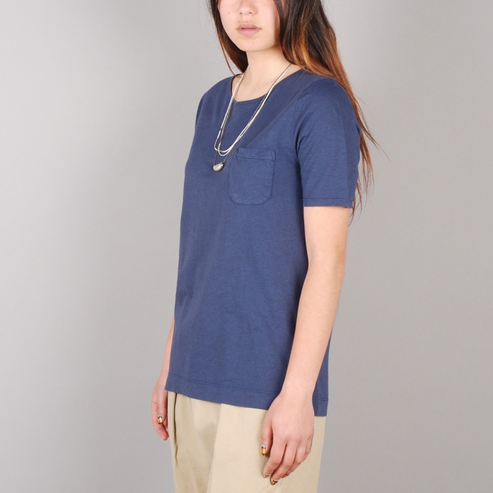 YMC Scoop Back Pocket Tee - Navy (Image 1)