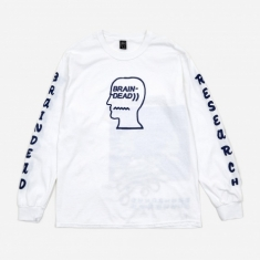Brain Dead Vehicle Longsleeve T-Shirt - White