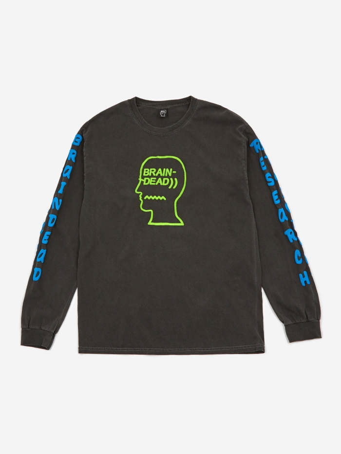 Brain Dead Vehicle Longsleeve T-Shirt - Black (Image 1)