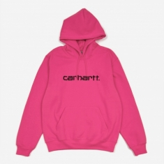 Carhartt WIP Hooded Sweatshirt - Ruby Pink/Black