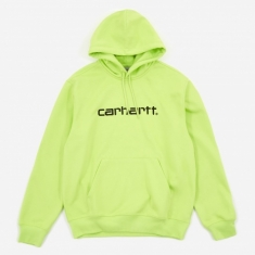 Carhartt WIP Hooded Sweatshirt - Lime/Black